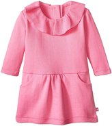 Zutano Ruffle Drop Waist Dress (Baby) - Hot Pink - 6 Months
