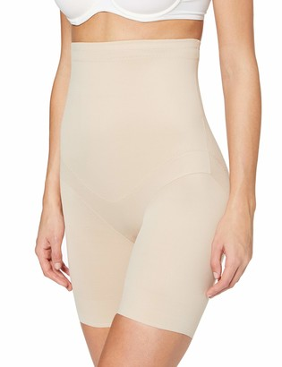 Miraclesuit Women's Panty Taille Haute Nude-Flexible Fit Thigh Shapewear M