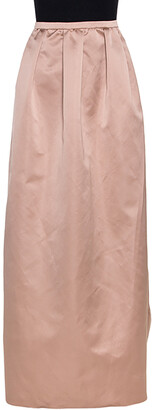 N°21 N21 Champagne Satin Pleated Maxi Skirt M