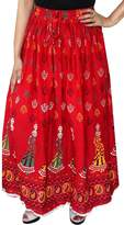 Maple Clothing Womens Long Indian Wrap Skirt Cotton Maxi India Apparel