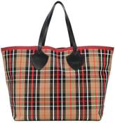 Burberry XL checked tote