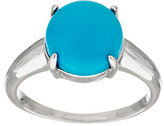 QVC As Is Sleeping Beauty Turquoise Round Sterling Ring