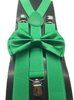 Coool Color Wedding Accessories Adjustable Bow Tie & Suspenders