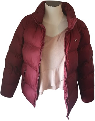 Tommy Jeans Burgundy Synthetic Coats