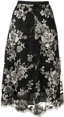 Antonio Marras Floral-Embroidered Skirt