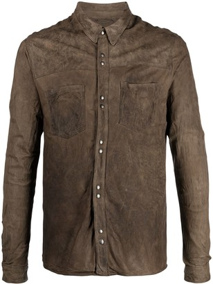Giorgio Brato Brushed Leather Shirt Jacket