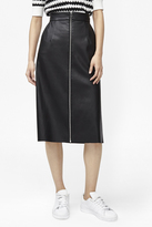 French Connection Atlantic Faux Leather Midi Skirt