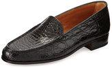 Gravati Croc Venetian Loafer, Black