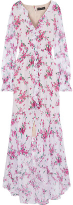 Rachel Zoe Thea Ruffle-trimmed Floral-print Chiffon Maxi Dress