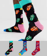 Happy Socks x The Rolling Stones 3 pack gift box