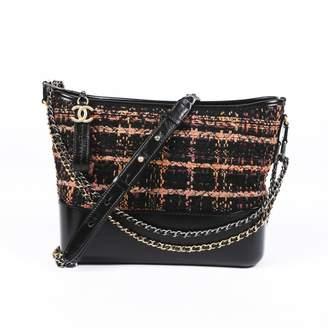 Chanel Gabrielle Black Tweed Handbags