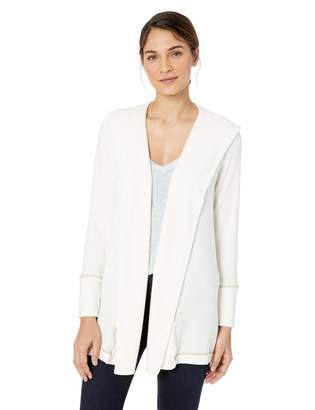 Michael Stars Women's Madison with Contrast Long Sleeve Hoodie
