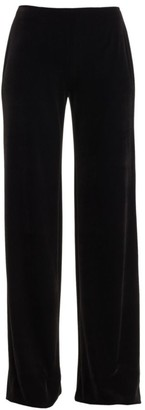 Teri Jon By Rickie Freeman Velvet Wide Leg Pants