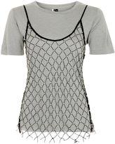 Topshop Stud Overlay Cami T-Shirt