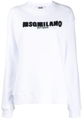 MSGM Milano crew neck sweatshirt