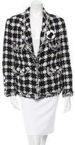 Chanel Tweed Camellia Jacket