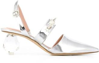 Simone Rocha Crystal Heel Pumps