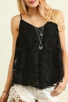 Umgee USA Sleeveless Lace Top