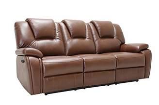Blackjack Furniture Stefano Modern Upholstered Living Room Power Reclining Sofa