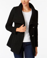 INC International Concepts Asymmetrical Belted Walker Coat, Created for Macy's