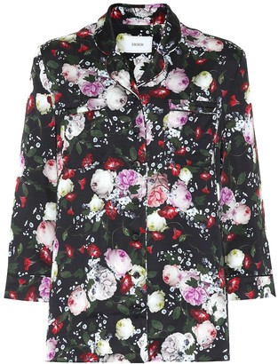 Erdem Ray floral satin pajama top