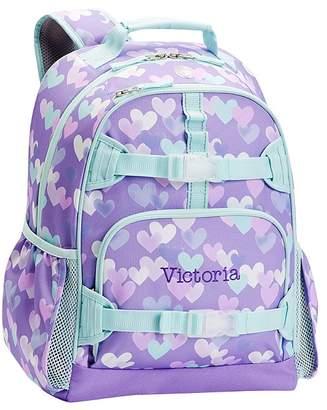 Pottery Barn Kids Mackenzie Lavender Aqua Cascading Hearts Backpacks