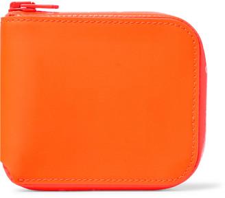 Acne Studios Logo-Print Leather Zip-Around Wallet - Men - Orange
