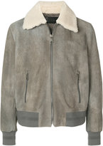 Neil Barrett shearling collar jacket