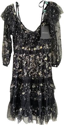 Needle & Thread Black Lace Dress for Women