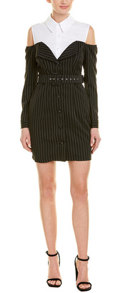 Power Lunch Rosewater Remi Cold-Shoulder Shift Dress