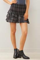 Sadie & Sage Plaid Smocked Ruffle Mini Skirt Multi S