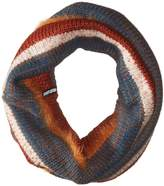 Muk Luks Women's Pennies From Heaven Funnel Scarf- Yarn Stripe