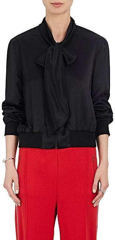 Area Women's Silk Satin Tieneck Track Jacket