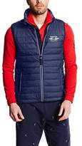Gaastra Men's Sleeveless Gilet Blue Blau (NAVY F40)