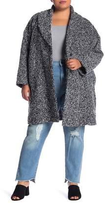 Susina Brushed Tweed Topper (Plus Size)