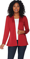 Denim & Co. As Is Essentials Long Sleeve Cardigan with Peplum Back