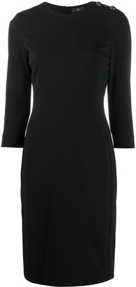 Fay Buttoned Shoulder Shift Dress
