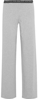 La Perla Soft Touch Lace-trimmed Stretch-jersey Pajama Pants
