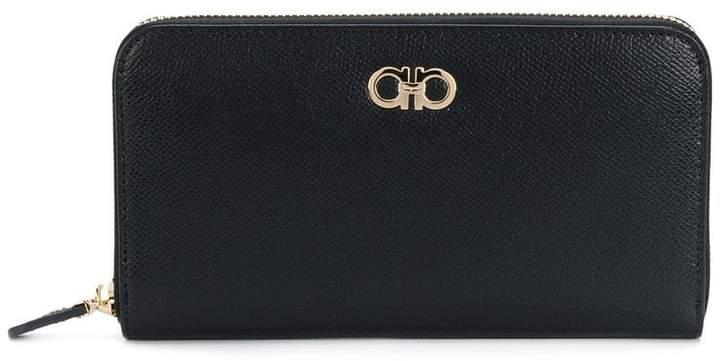Salvatore Ferragamo double Gancio zip wallet