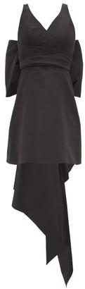 Carolina Herrera Back-bow Faille Mini Dress - Womens - Black