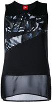 Nike logo print vest top - women - Polyester/Spandex/Elastane - XS