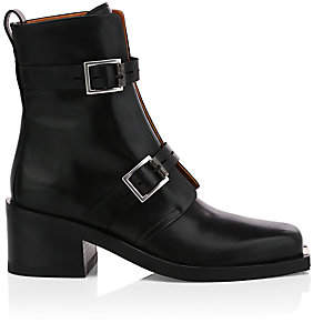 Rag & Bone Women's Fallon Buckle Leather Moto Boots