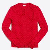 J.Crew Factory Polka-dot Caryn cardigan sweater