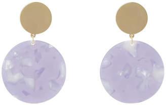 Basque Hanging Acrylic Circle Earring Lilac