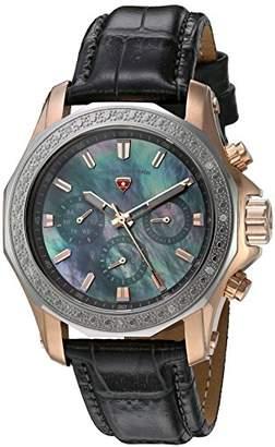 Swiss Legend Womens Analogue Quartz Watch with Leather Strap SL-16200SM-SR-014-GRYS