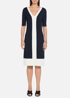 St. John Color-Blocked Milano Dress