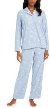 Charter Club Women's Petite Cozy Fleece Pajama Set, Created for Macy's