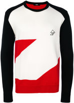 Versus geometric panel sweater
