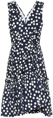Carolina Herrera Polka-dot stretch-cotton minidress
