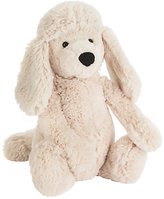 Jellycat Bashful Poodle Pup Soft Toy, Medium, Cream